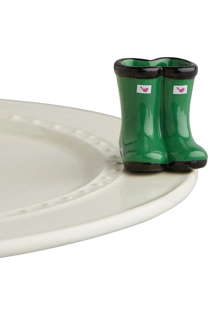 jumpin' puddles (green wellies)