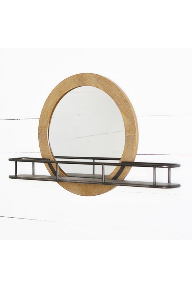 Modern Mirror w/ Shelf