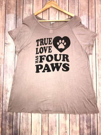 True Love Has Four Paws Graphic Tee
