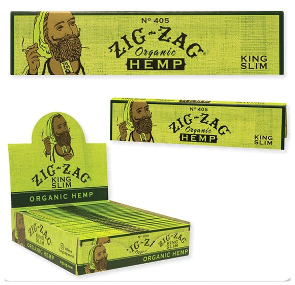 Zig-Zag King Slim Organic Hemp Rolling Papers