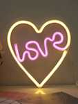 Neon Love Heart Sign