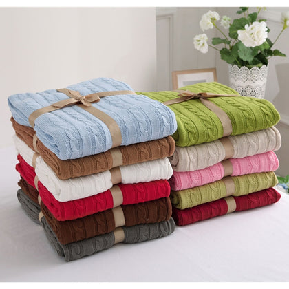 Cotton Solid Color Throw Blanket