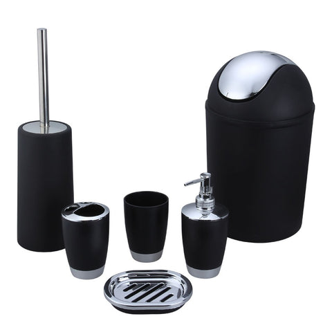 6 Piece Bathroom Accessories Set