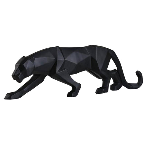 Resin Sneaking Panther Sculpture