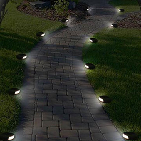 Outdoor LED Solar Garden Stone Lights