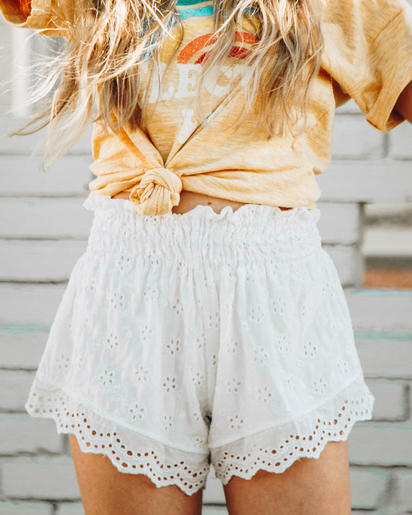 Kate Eyelet Shorts - FINAL SALE