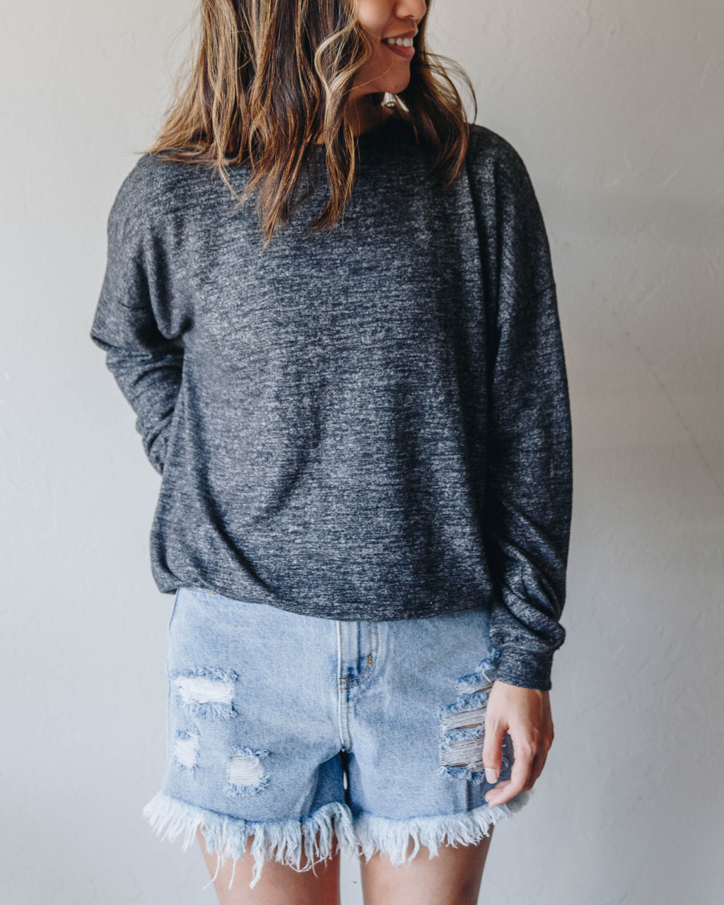 Essential Lounge Top - Charcoal