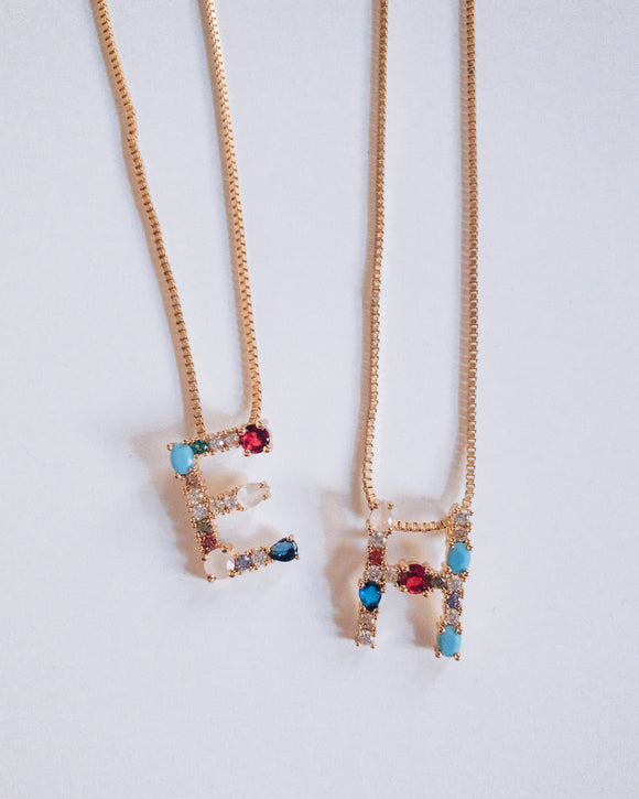 Eclectic Initial Necklaces