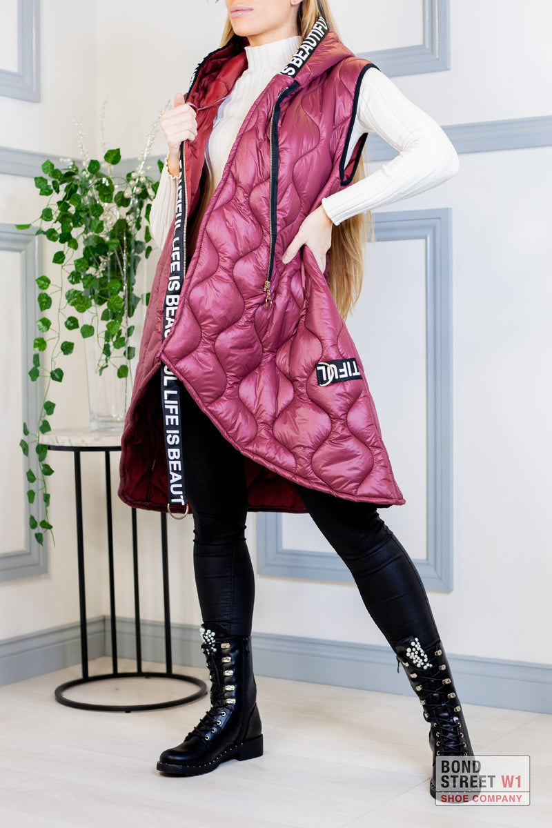 Willow Maroon Gilet Puffer