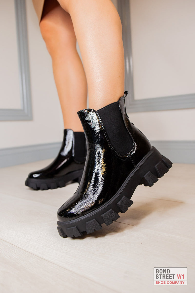 Chunky Patent Boot
