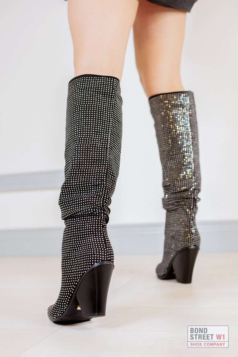 Embellished Luxury Knee High Boot