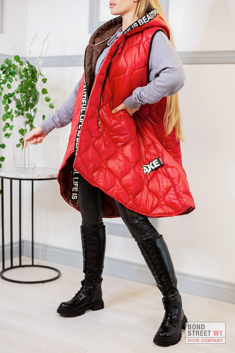 Red Gilet Puffer
