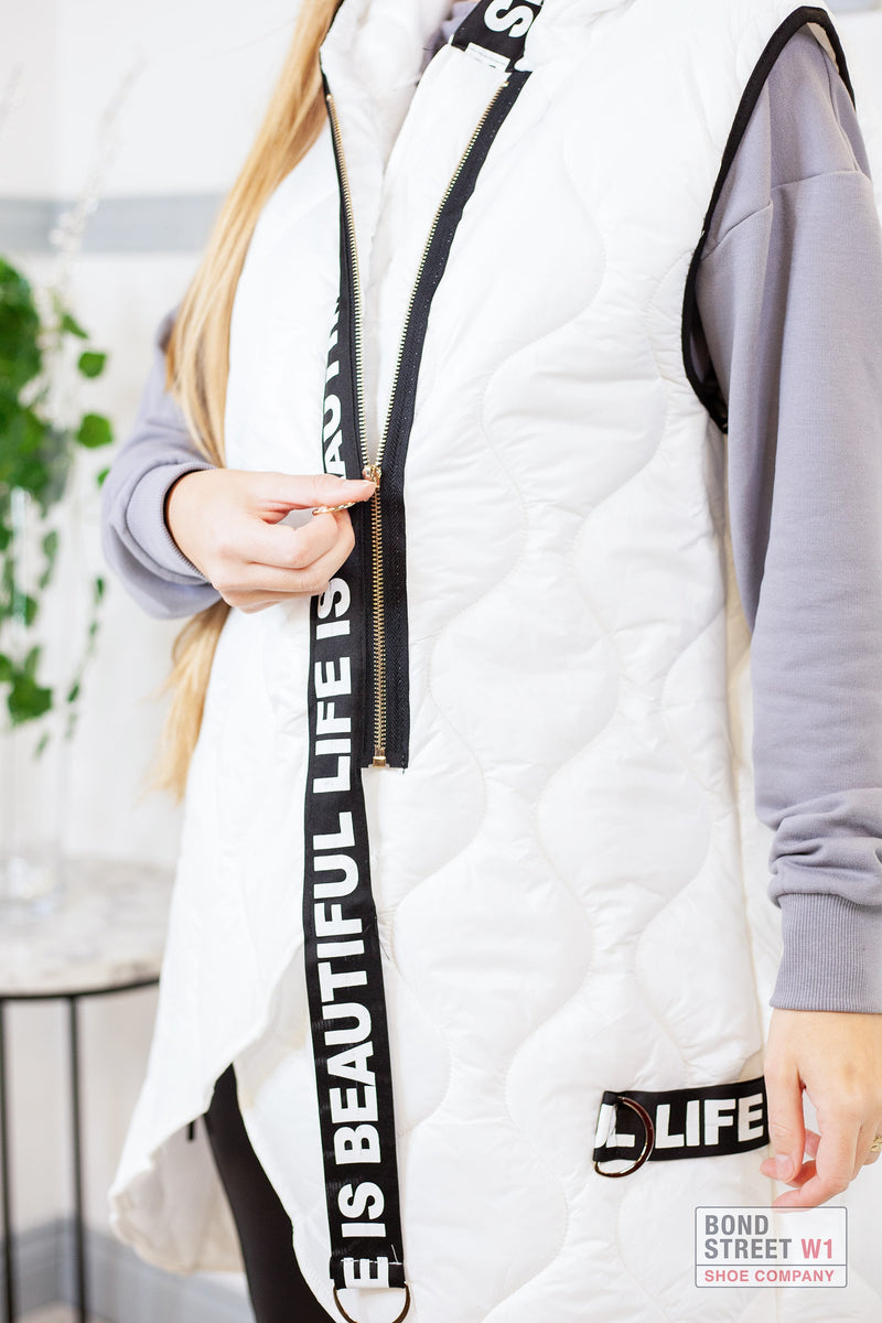Willow White Gilet Puffer
