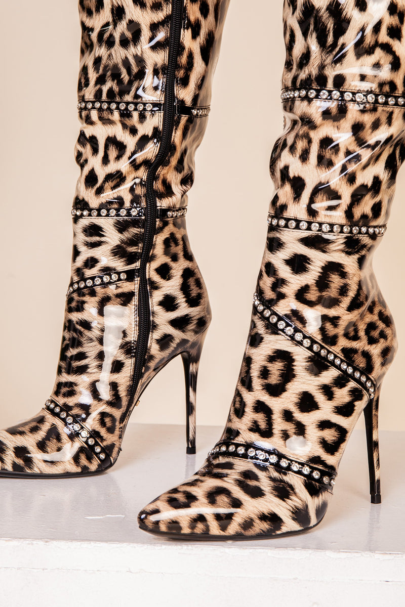 Leopard Over Knee Boot