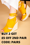 Yellow cut out wedges