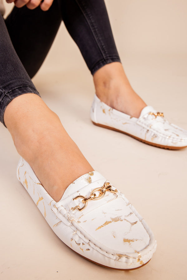 White Soft Loafer