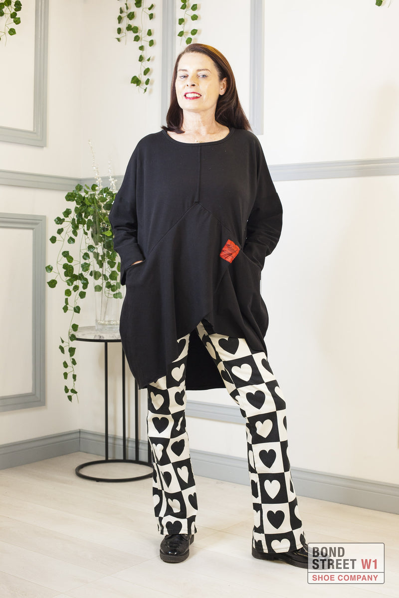 Camilla Red Label Tiered Sweat Top Black