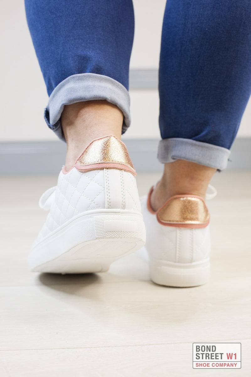 Rose Gold Padded Trainer