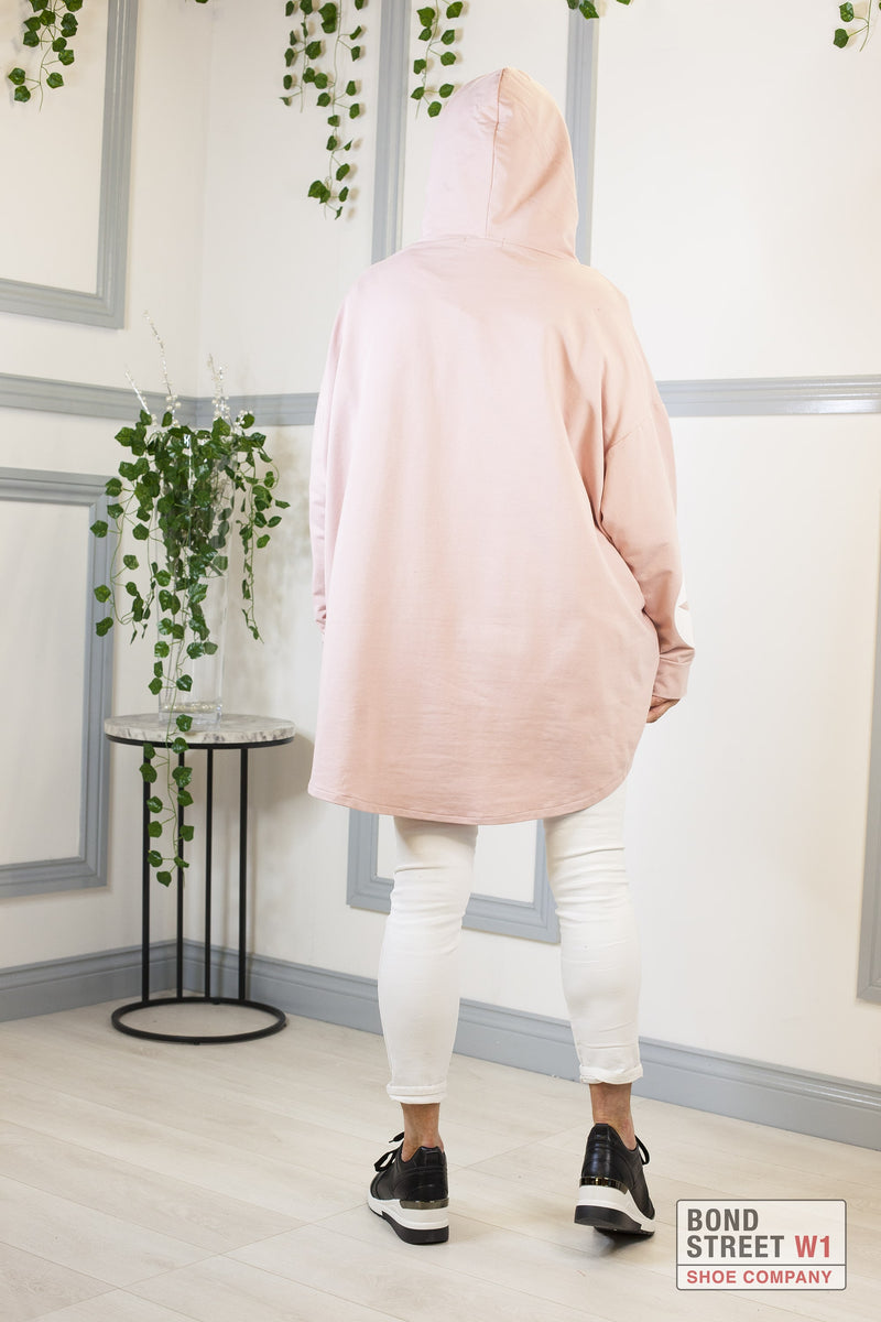 Isabelle Red Label Light Pink Hooded Sweat Top