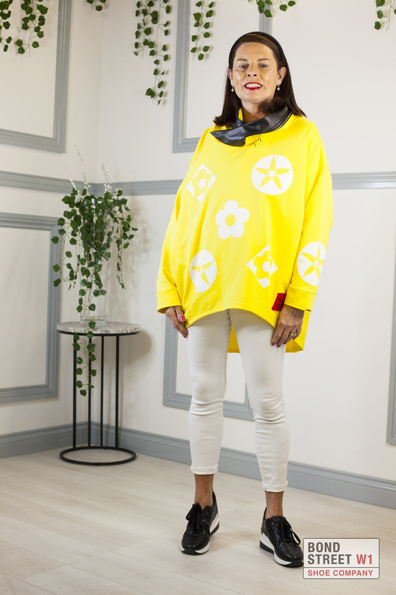 Isabelle Red Label Yellow Hooded Sweat Top