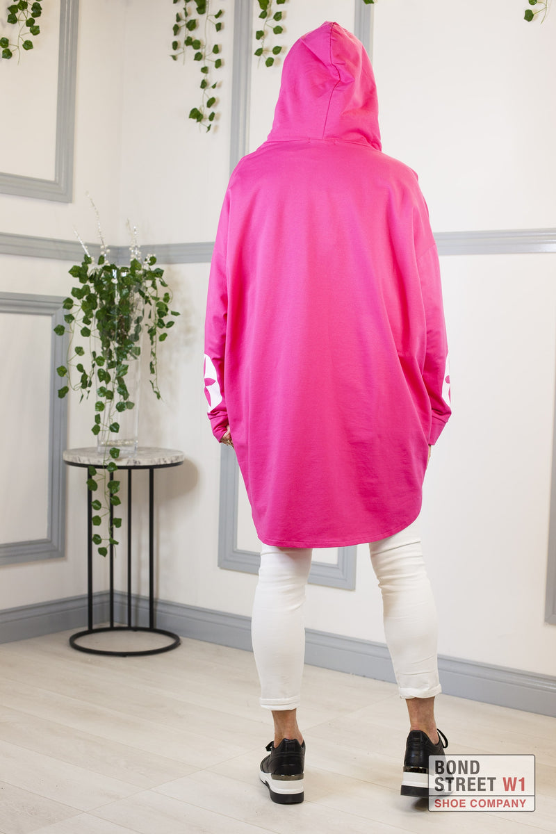 Isabelle Red Label Pink Hooded Sweat Top
