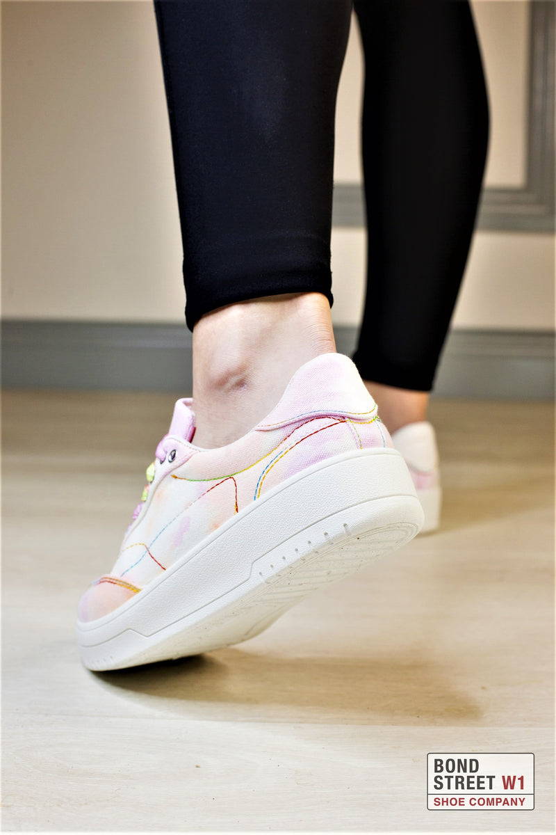 Pink/ White Splash Trainer