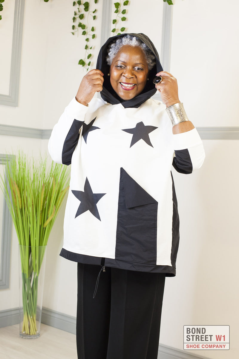 Limited Edition Black/ White Star Sweat Top