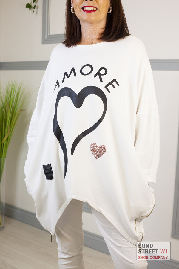 Red Label White Amore Sweatshirt