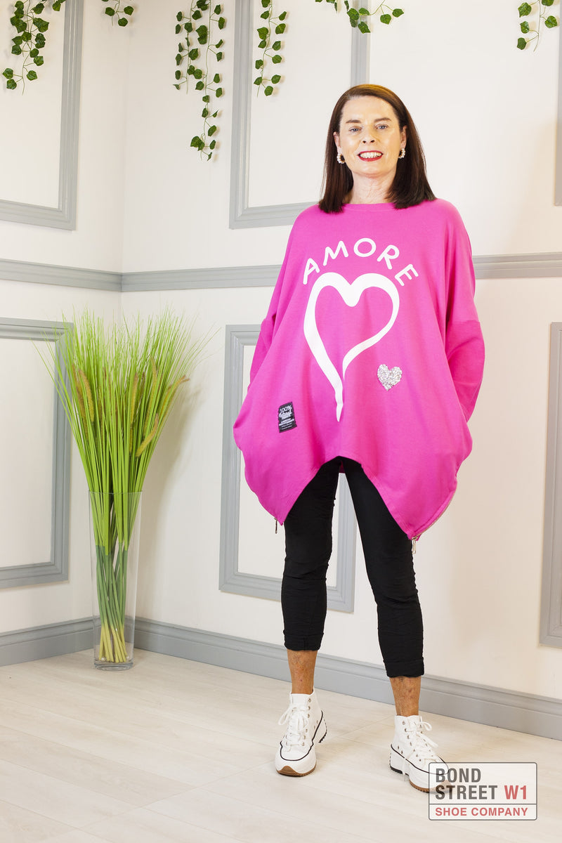 Lucia Red Label Pink Amore Sweatshirt