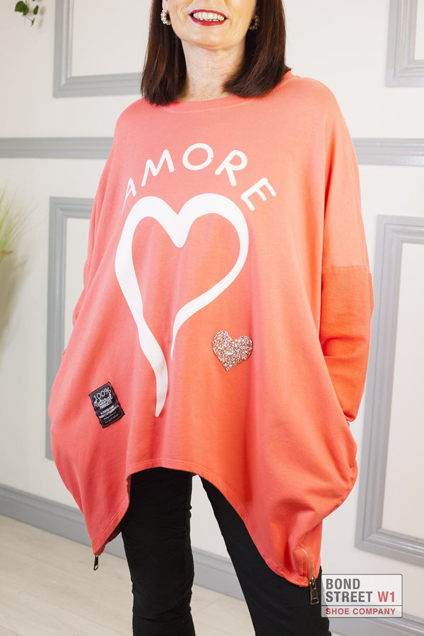 Red Label Coral Amore Sweatshirt