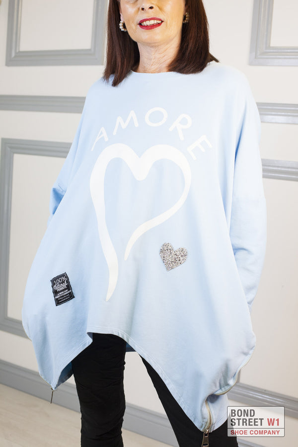 Red Label Blue Amore Sweatshirt