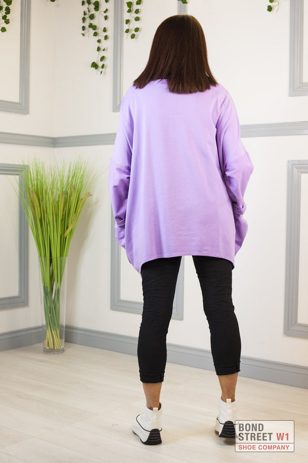 Red Label Lilac Amore Sweatshirt