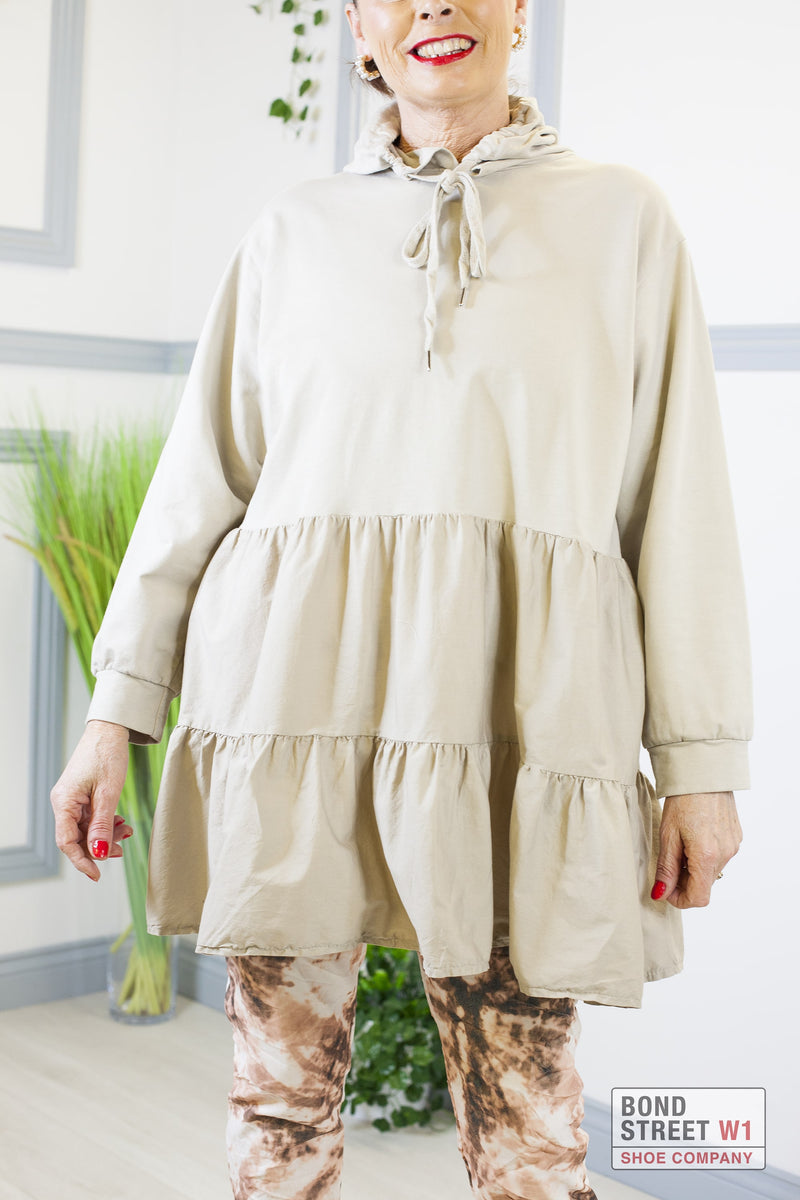 Gianna Sky Biscuit Smock Sweat Dress