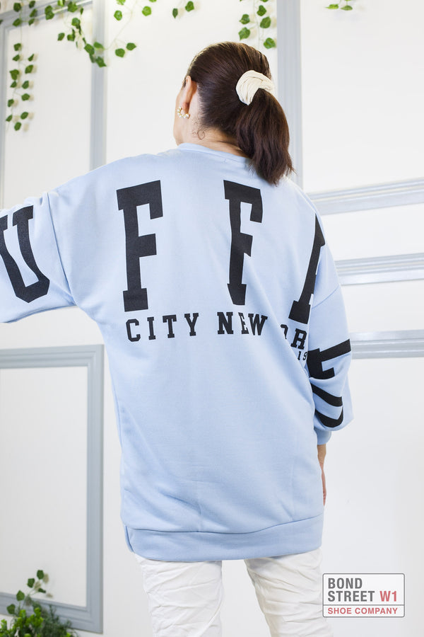 Mina Buffalo Sweatshirt Blue