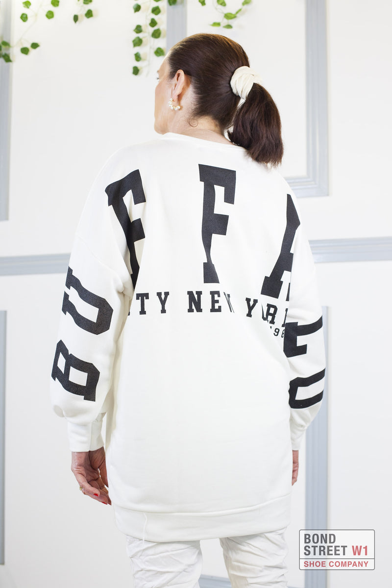 Mina Buffalo Sweatshirt White