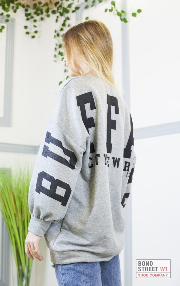Mina Buffalo Sweatshirt Grey