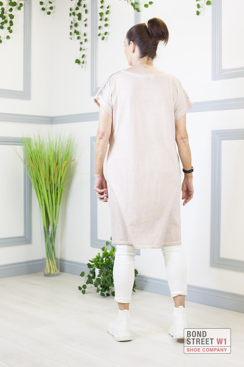 Avalon Pink Linen Dress