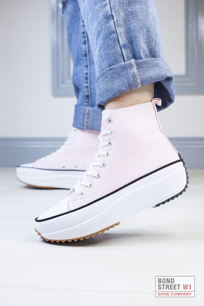 Pink Cleated Platform Trainer