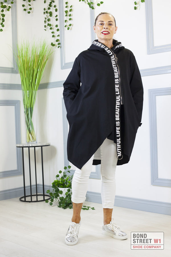 Sophie Life Is Beautiful Black Panel Jersey Sweat Top