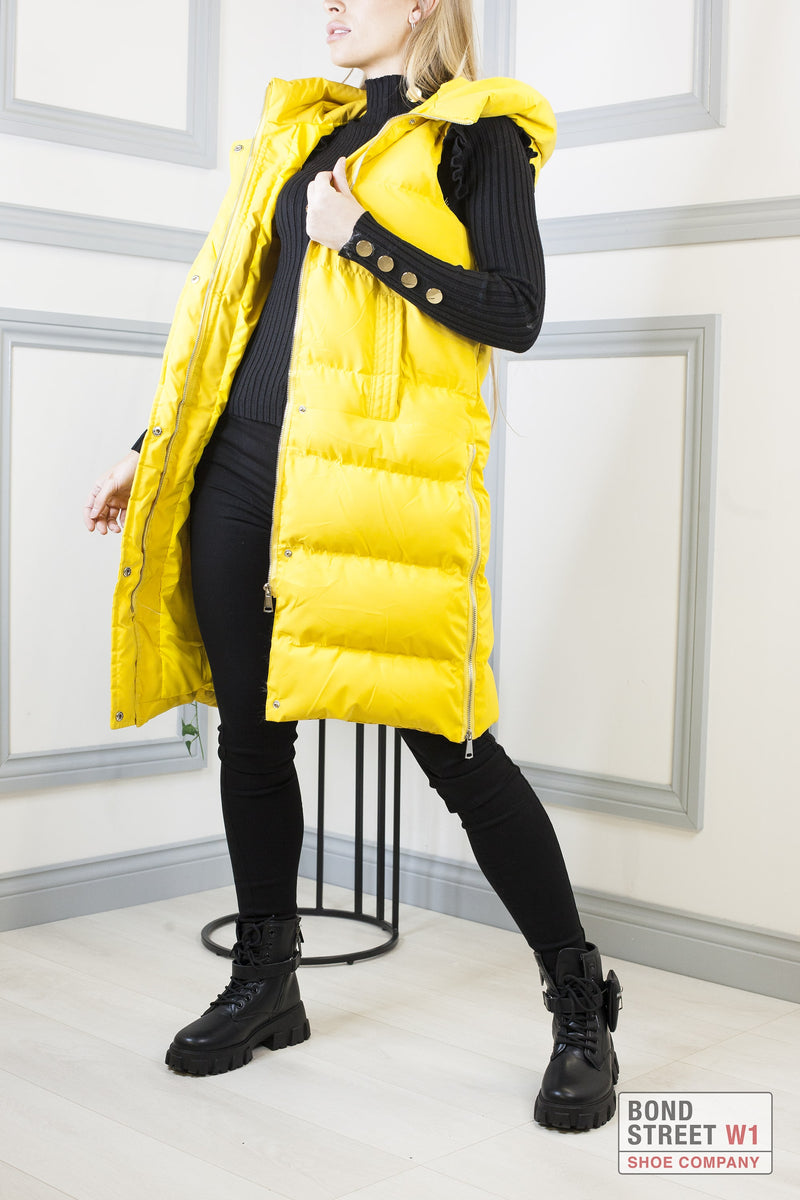 Yellow Gilet Puffer Jacket
