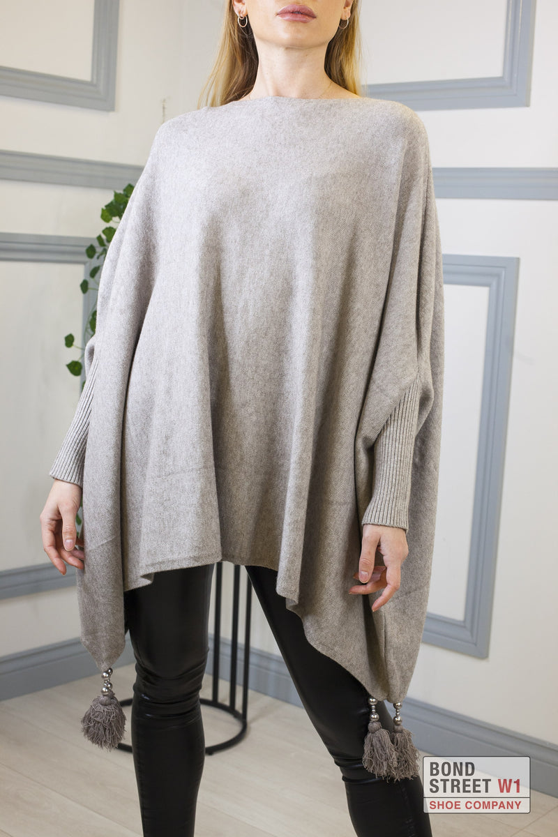 Tassel Crew Neck Knit