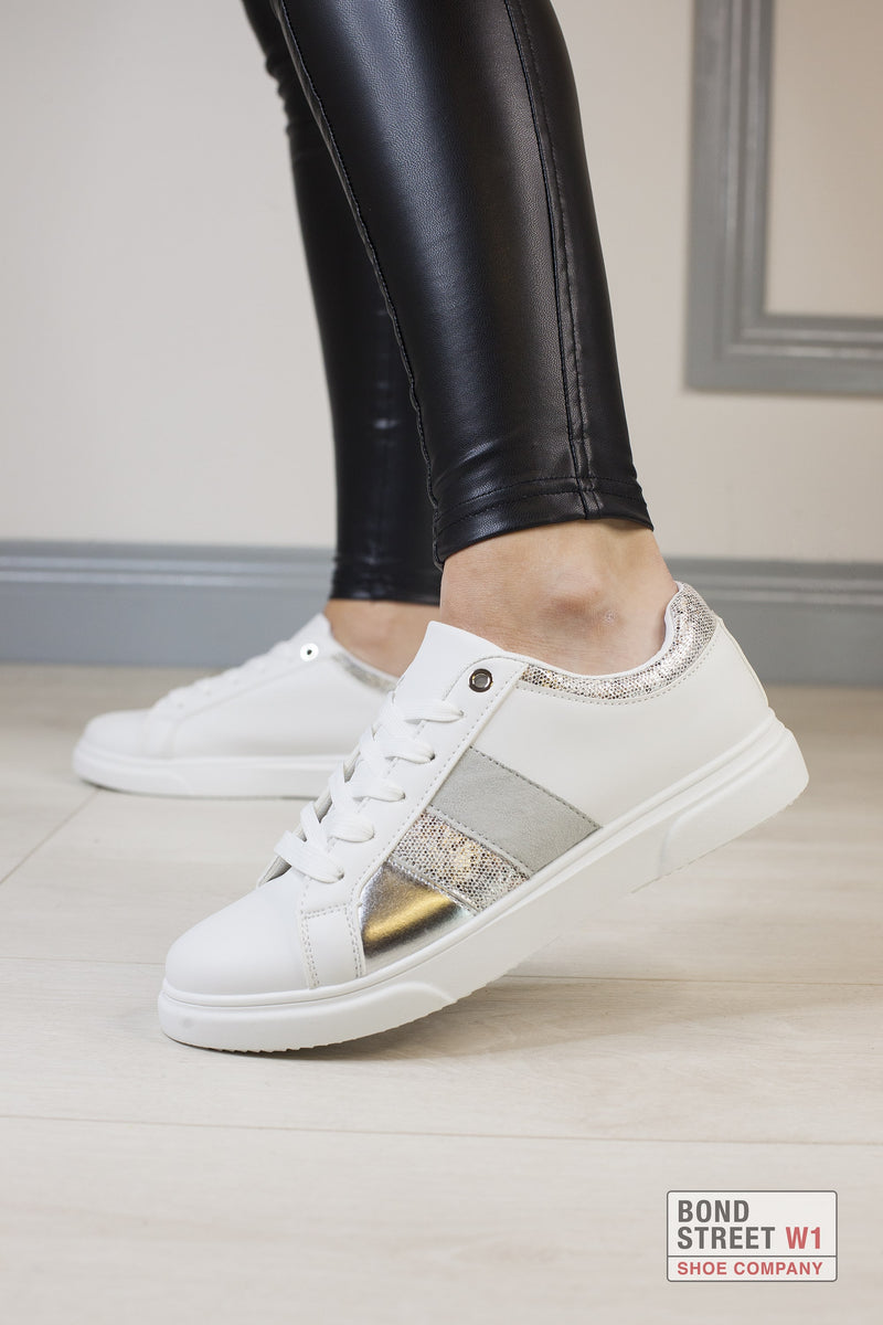 Silver Tones Luxe Trainer