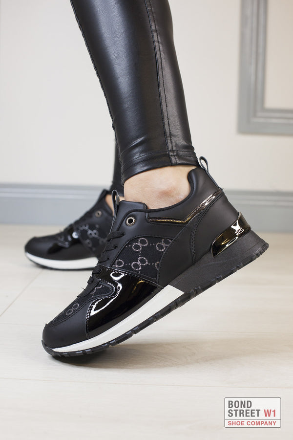 Black  Luxe Trainer