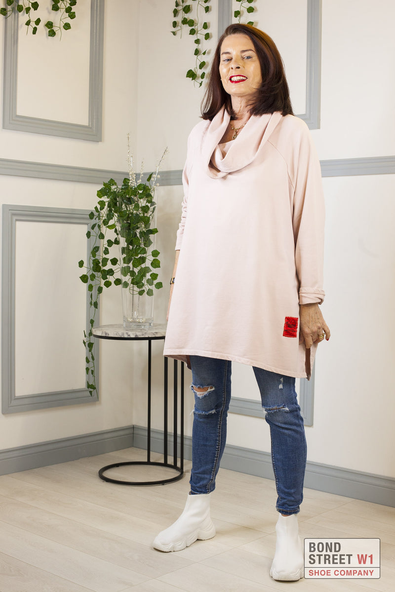 Gabriella Red Label Pink Scoop Neck Jersey Top