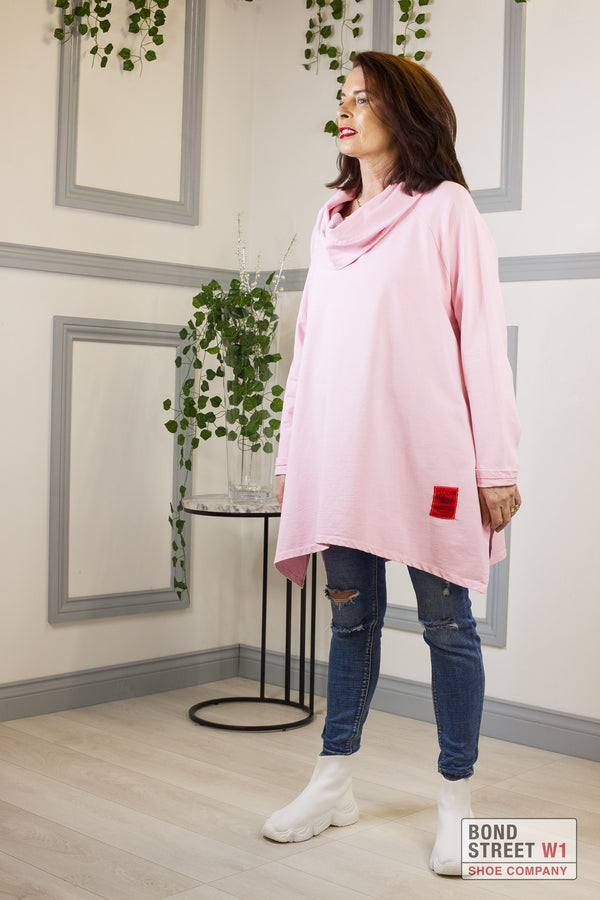 Red Label Bright Pink Scoop Neck Jersey Top