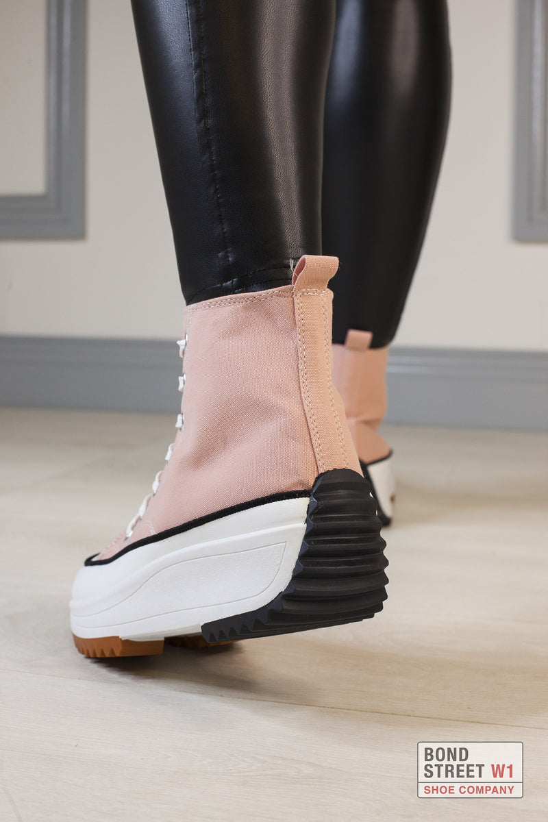 Light Pink Cleated Platform Trainer
