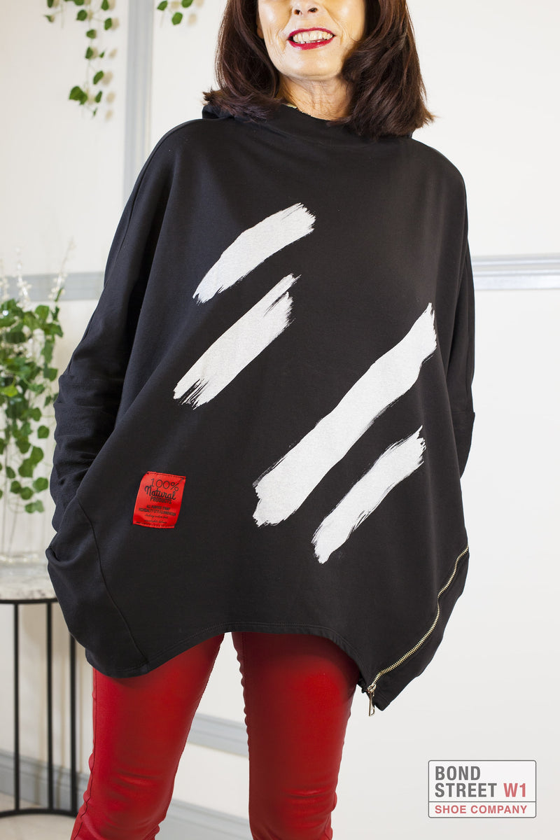 Red Label Black Dash Sweatshirt
