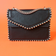 Black Studded Faux Leather Clutch Bag
