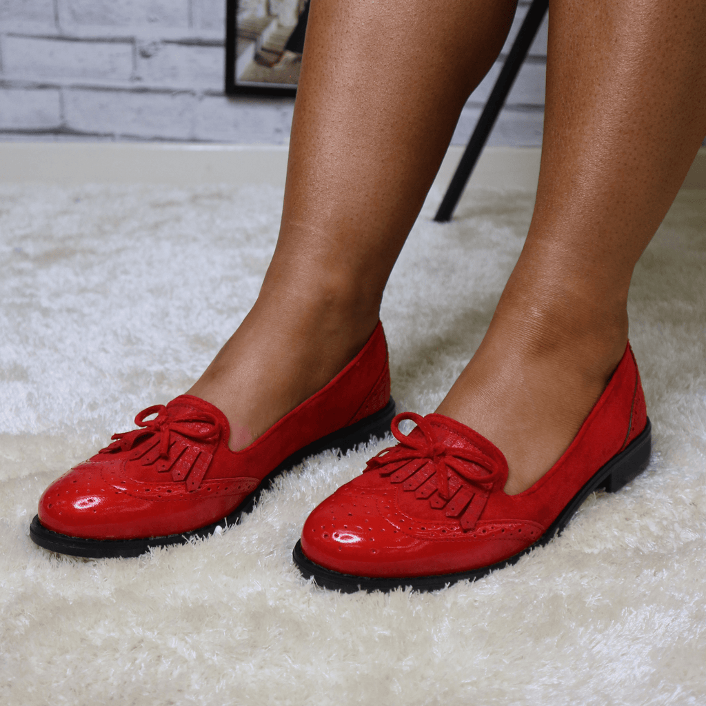 Red bow loafer