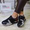 Black Wine panelling trainers